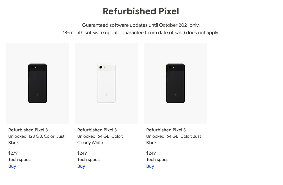 """<p>Maybe you don't want to hop on the 5G bandwagon just yet, or maybe you don't need your device to have the latest camera improvements. If you're not too keen on upgrading your device to the Pixel 5 or Pixel 4a 5G, why not pick up a Pixel 3? Google is now offering refurbished models</p> <p>The post <a rel=""""nofollow"""" href=""""https://www.xda-developers.com/google-pixel-3-refurbished-available-now-249/"""">You can pick up a refurbished Pixel 3 from Google for just $249</a> appeared first on <a rel=""""nofollow"""" href=""""https://www.xda-developers.com/"""">xda-developers</a>.</p>"""