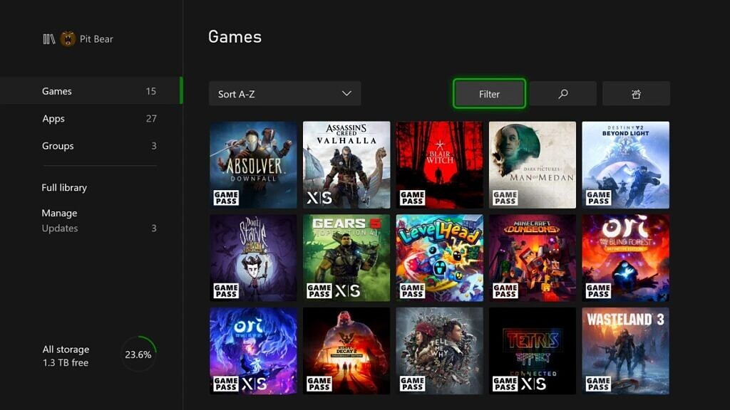 xbox november 2020 update oprimised for x|s badge