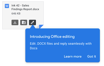 Office editing for Gmail