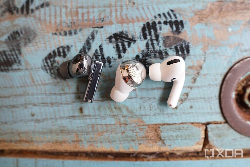 The Huawei FreeBuds Pro, Apple AirPods Pro, and Galaxy bUds Pro