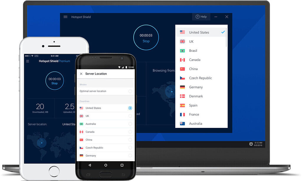 Hotspot Shield is the fastest streaming VPN.