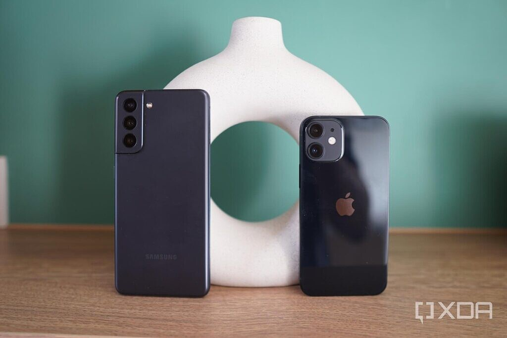 The iPhone 12 Mini and Galaxy S21