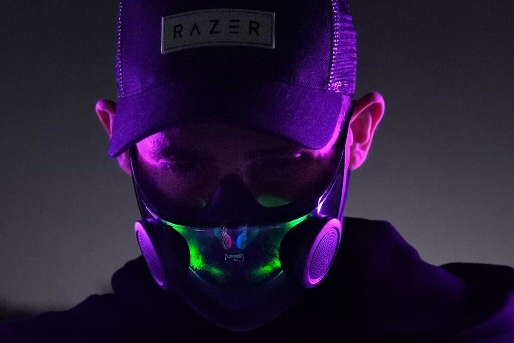 Razer made a mask with RGB lighting and a crazy gaming chair