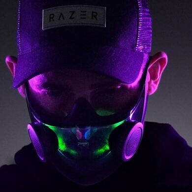 Razer made a mask with RGB lighting and a gaming chair with a 60″ display