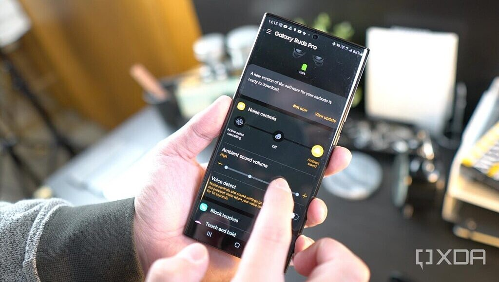 Galaxy Wear app connected to the Buds Pro