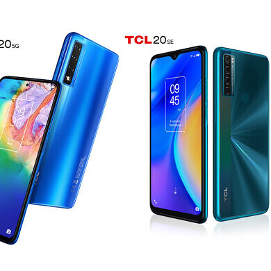 TCL announces the TCL 20 smartphone series, starting with the TCL 20 5G and TCL 20 SE