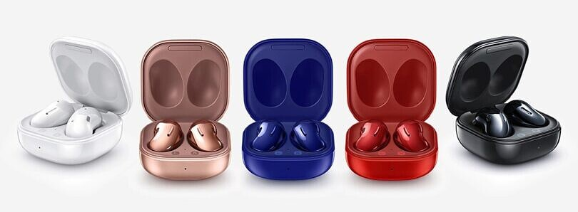 Get a pair of new Mystic Blue Galaxy Buds Live and save with trade-in at the Samsung Store