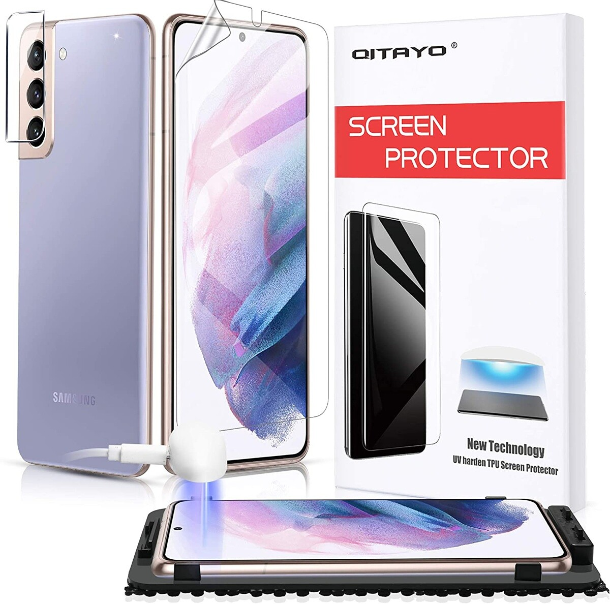 QITAYO Galaxy S21 Plus Screen Protector