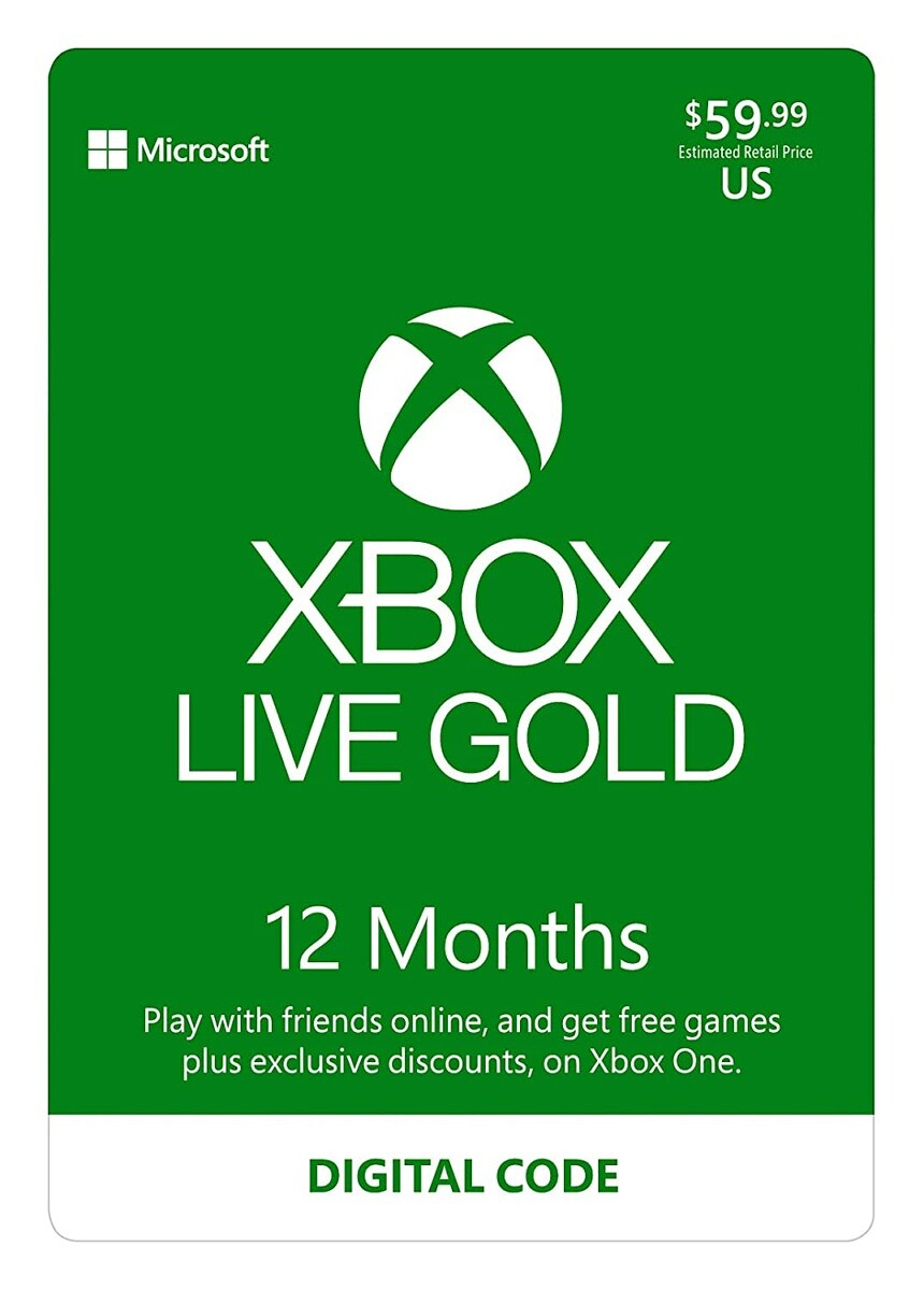 Xbox Live Gold (12 months)
