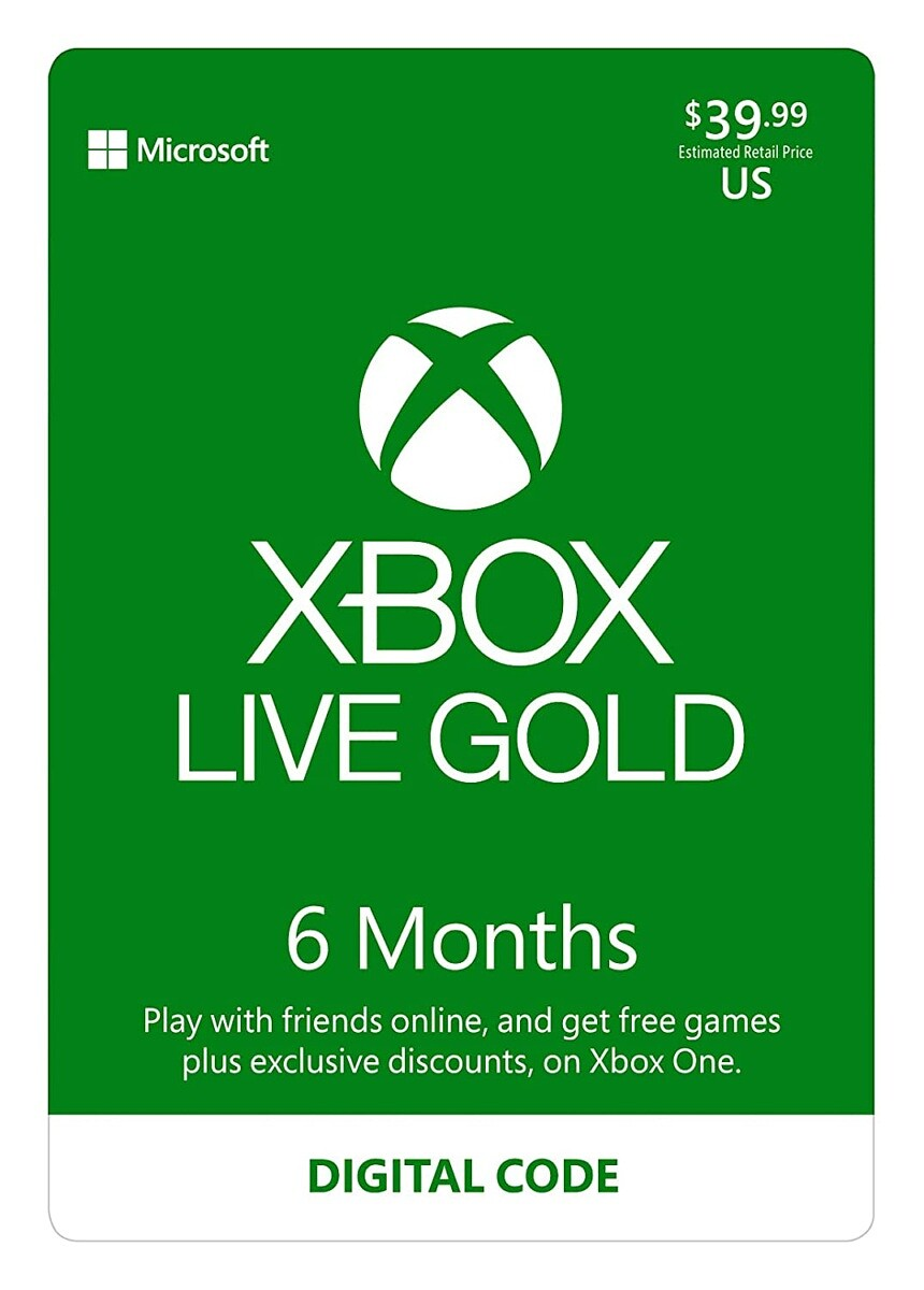 Xbox Live Gold (6 months)