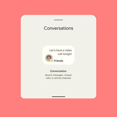 Android 12 DP1 preps a Conversations widget, but it isn't ready yet