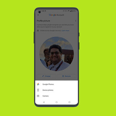 Google Contacts now lets you change your Google Account profile picture