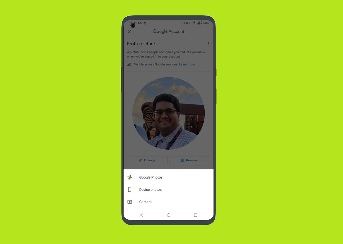 Google Contacts now lets you change your Google Account profile picture - XDA Developers