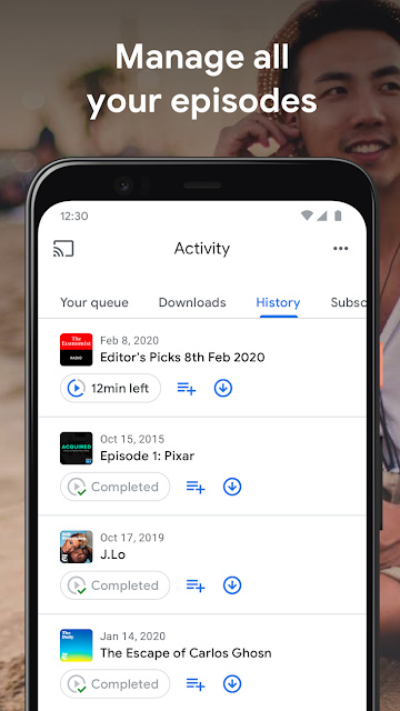 Google Podcasts Podcast App on Android