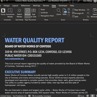 Microsoft Office's dark mode now works in documents too