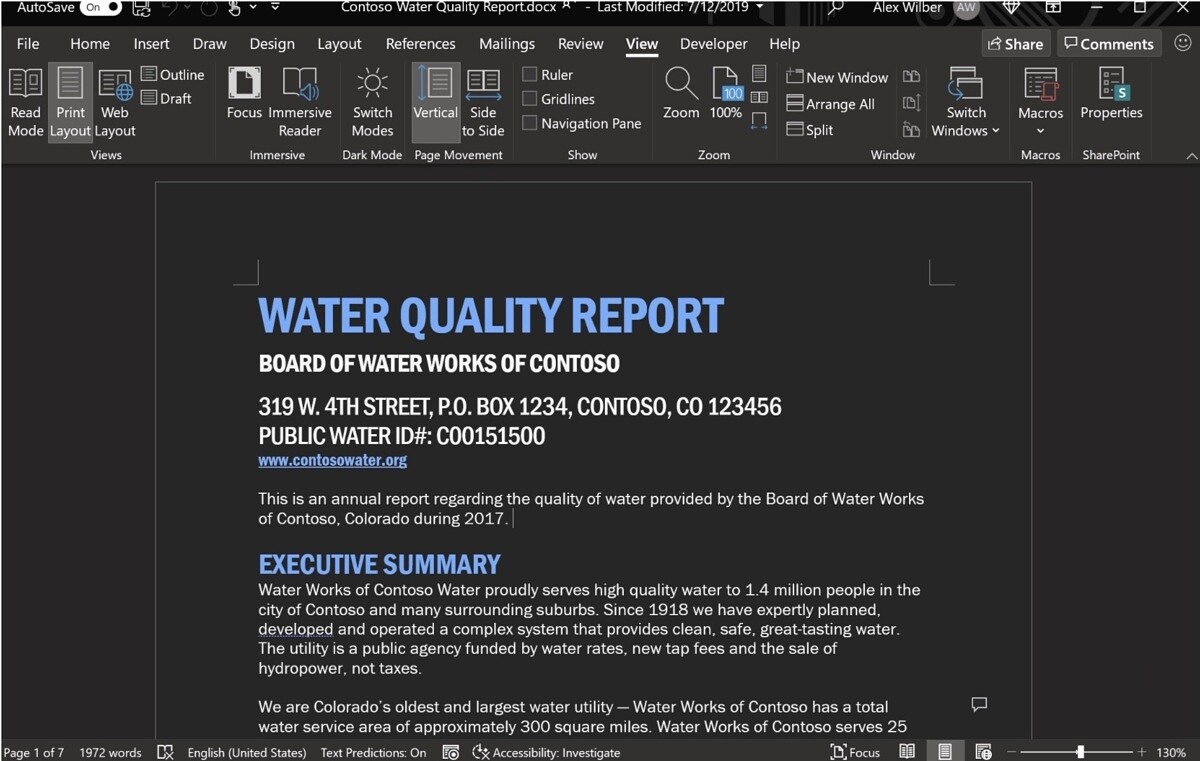 Microsoft Office's dark mode now works in documents too - XDA Developers
