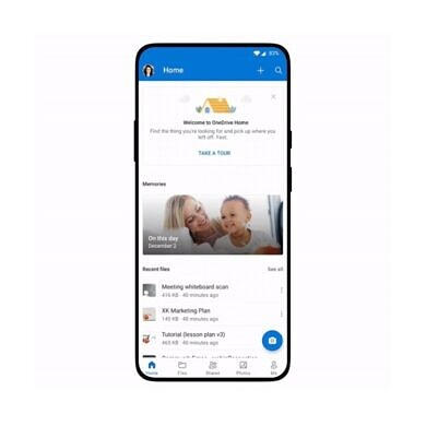 Microsoft's OneDrive on Android gets a new home screen and 8K video support