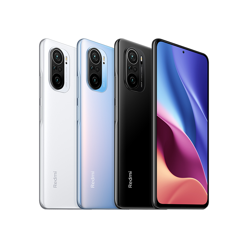 All colorways of the Redmi K40 on white background