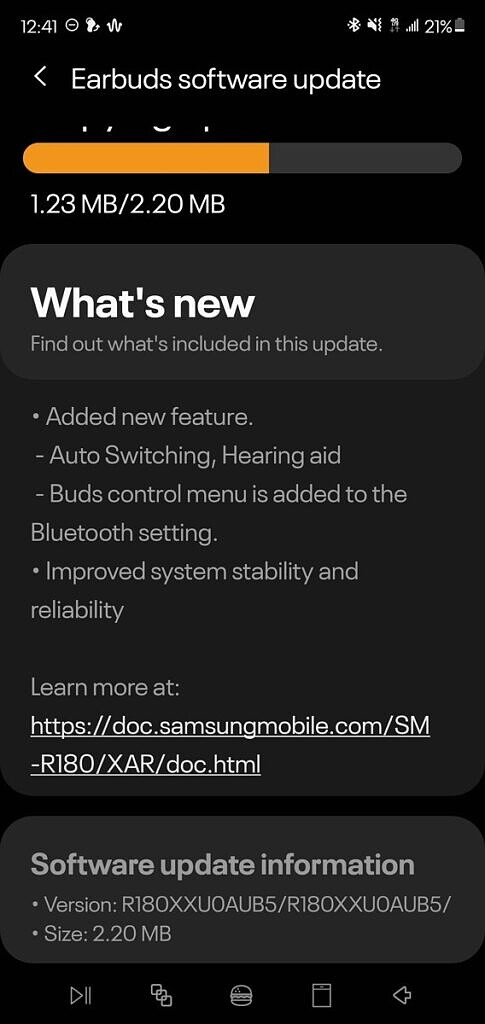 Samsung Galaxy Buds Live update with Hearing Aid