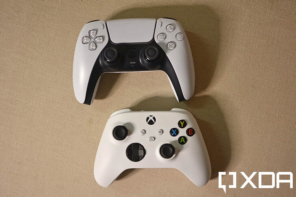 Sony DualSense wireless controller vs Xbox wireless controller