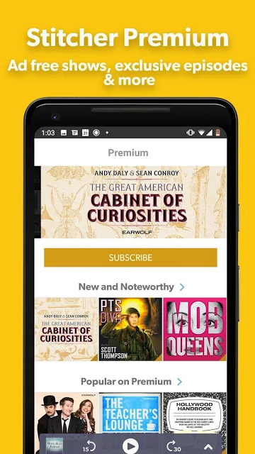 Stitcher Podcast App on Android