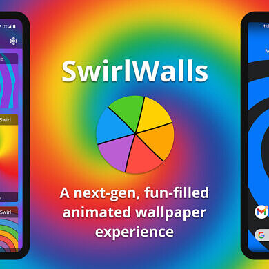 SwirlWalls brings fun, interactive spiral live wallpapers to your Android device