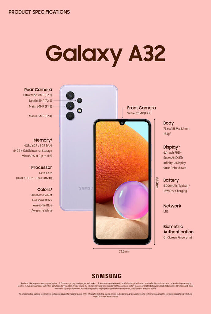 Galaxy A32 4G front