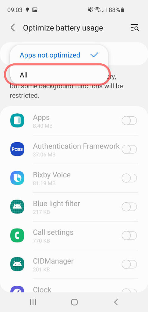 Steps to disable Android battery optimizations -2