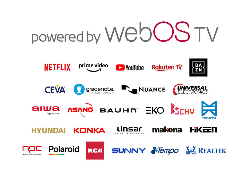 LG powered by webOS TV partners