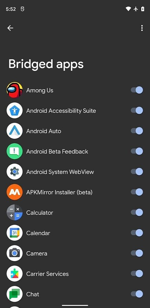 Android 12 bridged apps