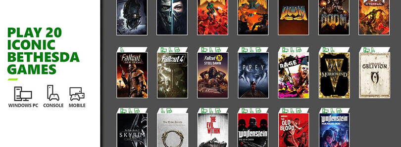 Microsoft adds Doom, Fallout, Skyrim and other iconic Bethesda titles to Xbox Game Pass