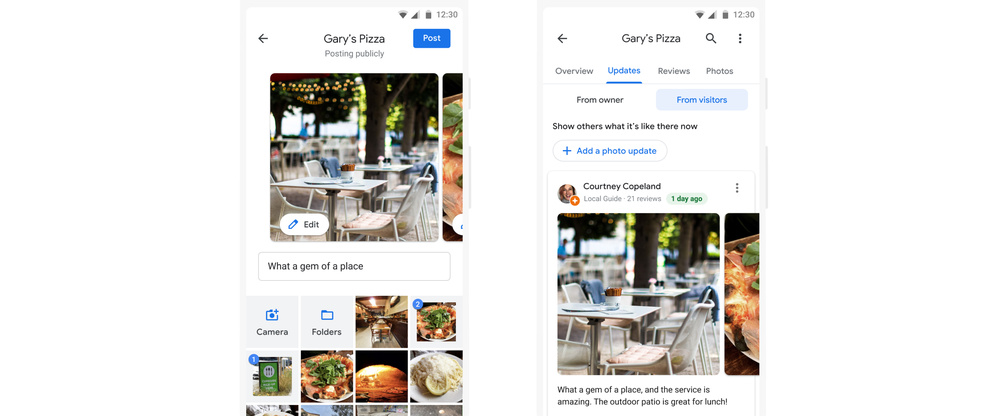 Google Maps photo updates