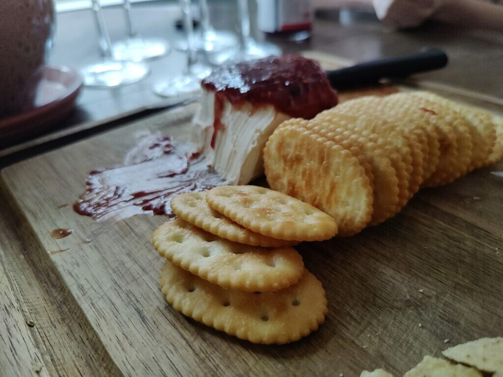 Jam Cake and biscuits
