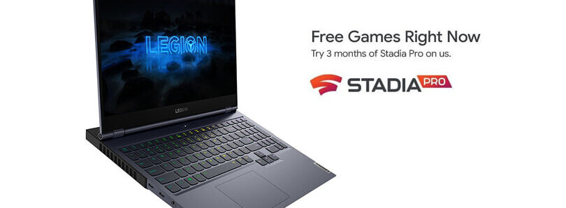Lenovo is offering 3 months of Stadia Pro service on new Legion and IdeaPad gaming laptops and PCs