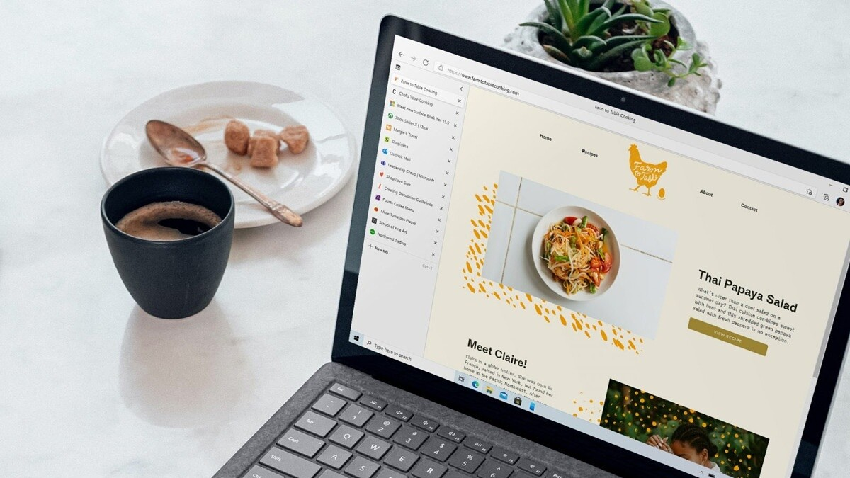 Microsoft Edge now launches faster and can stack tabs vertically