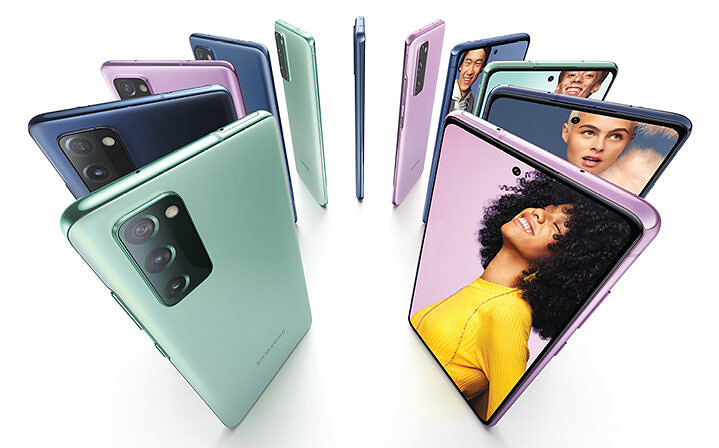 Galaxy S20 FE 5G in various colors