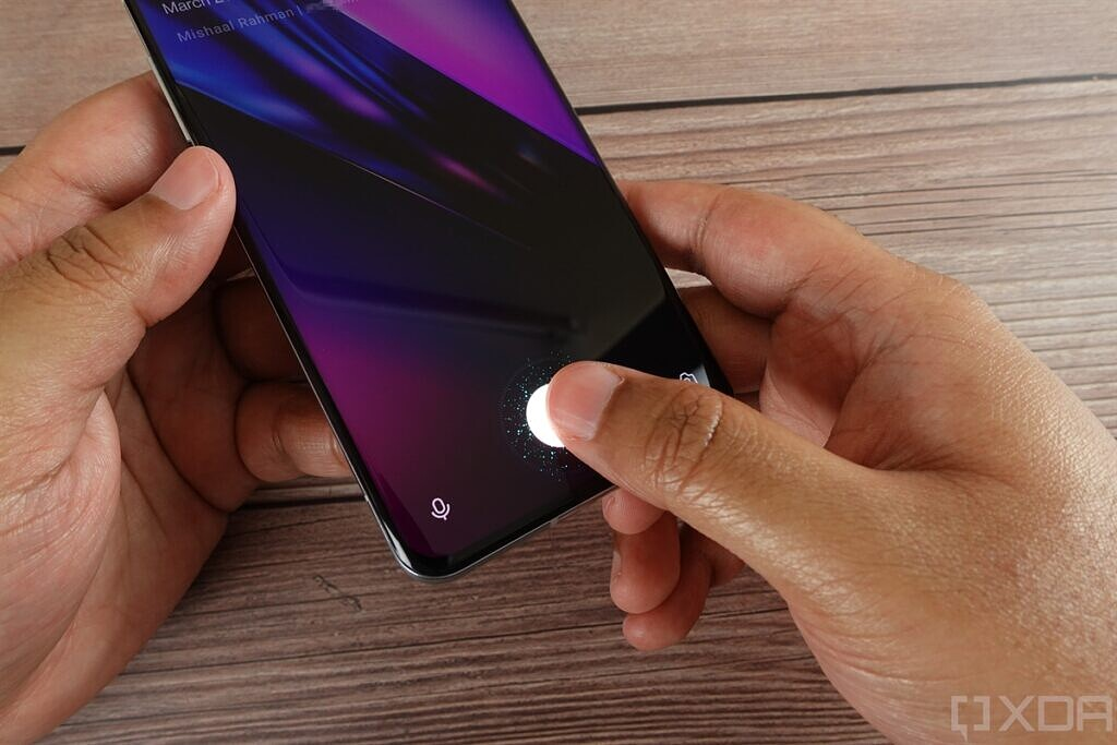 In-display fingerprint scanner on the OnePlus 9 Pro