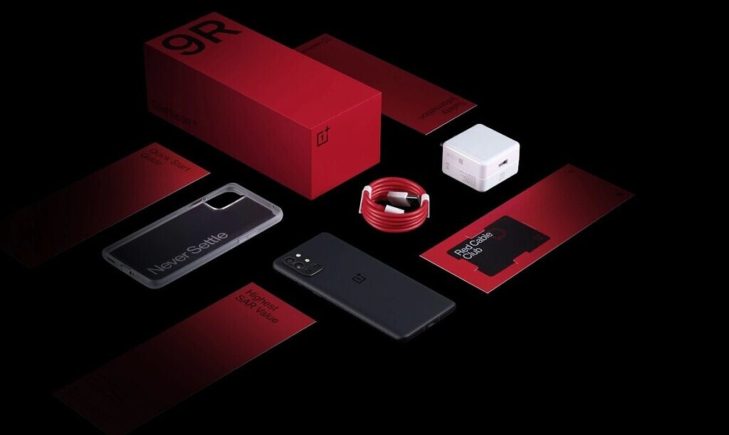 OnePlus 9R box contents