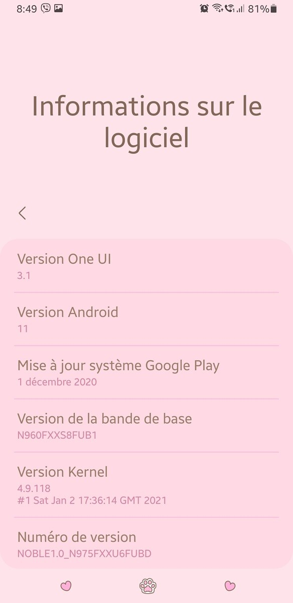 Samsung Galaxy Note 9 Android 11 port One UI 3.1 - 4
