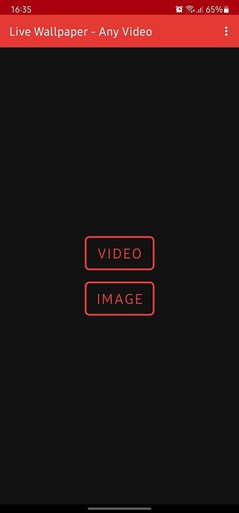Any Video Live Wallpaper Options