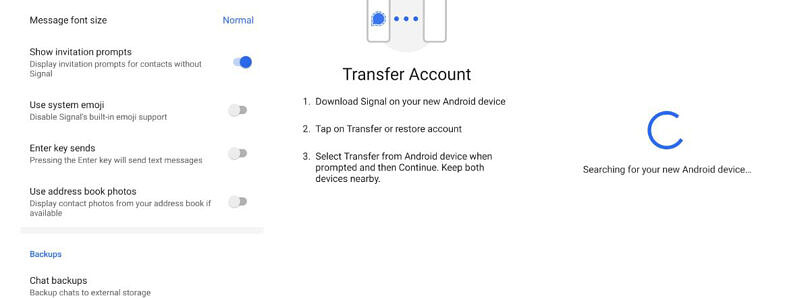 Signal makes it easier to transfer chats to a new device