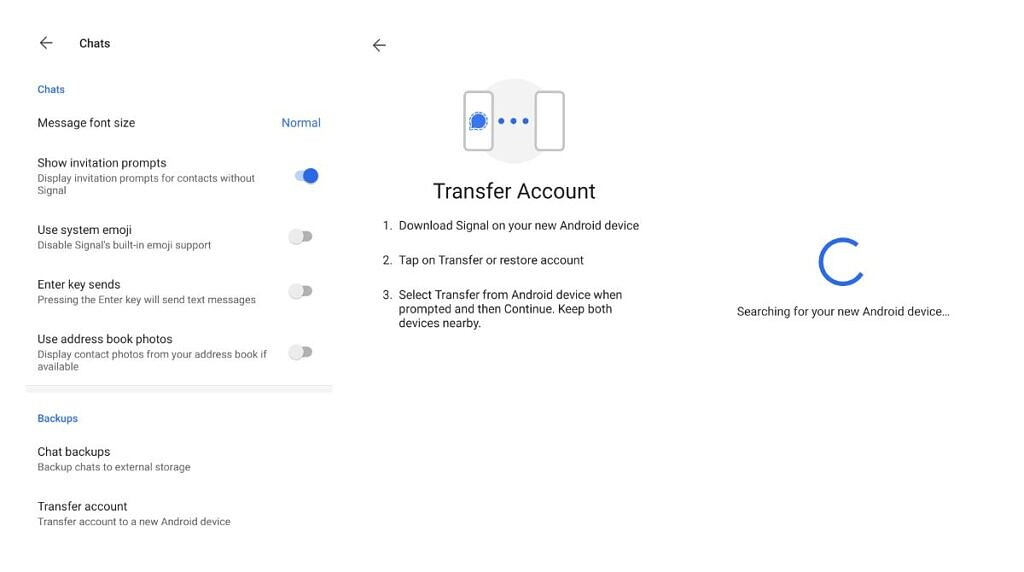 Signal Transfer Account