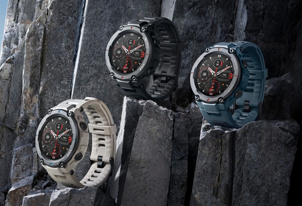 Amazfit T-Rex Pro is a new smartwatch with a rugged build and 10 ATM water