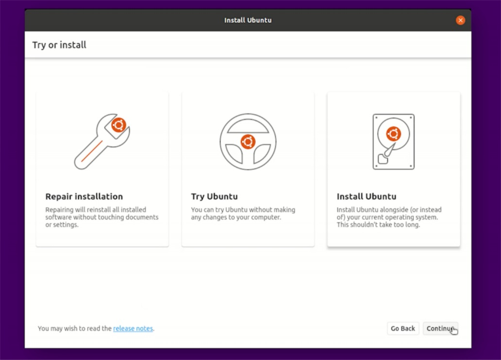 Ubuntu installer written in Flutter 2.0