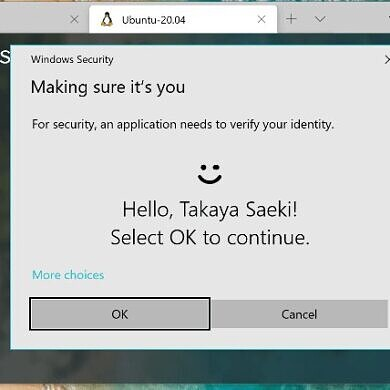 WSL Hello sudo brings Windows Hello authentication to Windows Subsystem for Linux