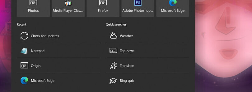 Windows 10's search interface will soon integrate with Microsoft Edge