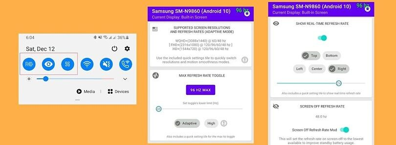 Galaxy Max Hz is an app for Samsung Galaxy owners to fine tune their high refresh rate displays