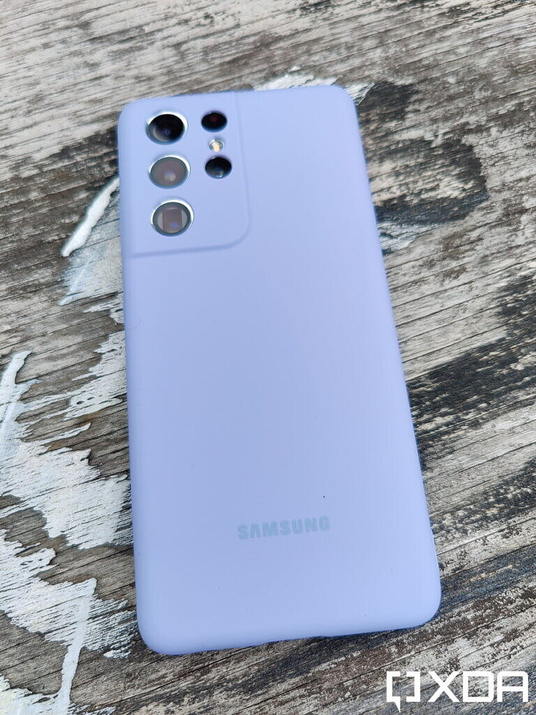 Samsung Silicone Case Review - Violet Back
