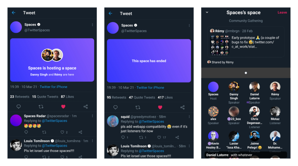 twitter spaces cards