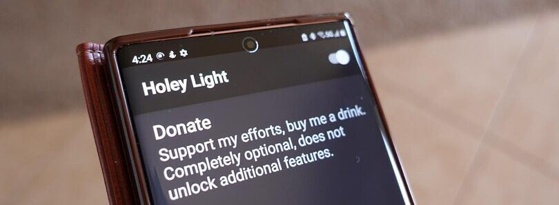 Chainfire's Holey Light app gets its biggest update yet with new Samsung and Google device support